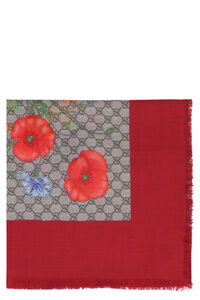 GG Flora printed shawl, Scarves Gucci woman