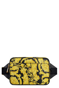 Printed leather belt bag, Beltbag Versace man
