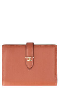 Logo leather wallet, Wallets Tod's woman