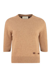Cashmere crew-neck sweater, Crew neck sweaters Gucci woman