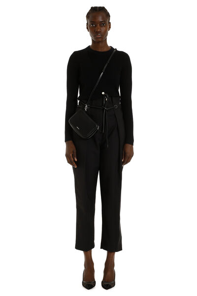 High-waist tapered-fit trousers