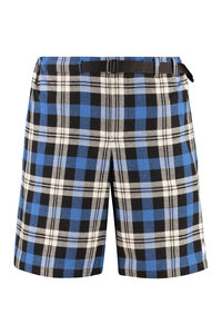 Belted plaid shorts, Shorts Marcelo Burlon County of Milan man