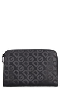 Leather clutch, Poches Dolce & Gabbana man