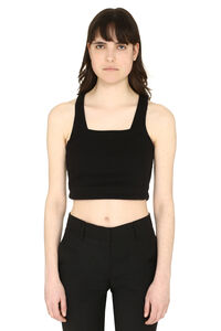 3x1 and Mimi Cuttrell - Crop top in misto cotone, Tanks 3x1 woman