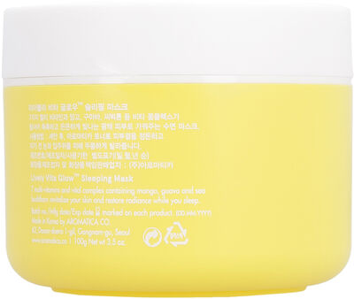 Lively Vita Glow Sleeping Mask, 100 g/3.5 fl oz