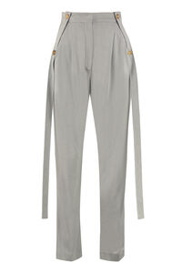 Stretch viscose trousers, Straight Leg pants Burberry woman