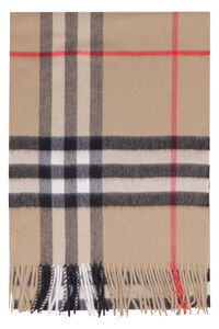 Check cashmere scarf, Scarves Burberry man