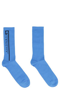 Terry cloth socks with logo, Socks Givenchy man