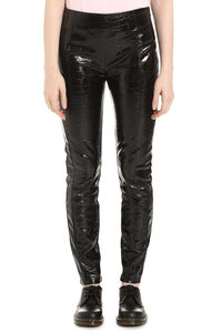 Gradino 3 crocodile print leggings, Leather pants Pinko woman