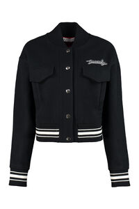 Embroidered wool bomber jacket, Bomber Givenchy woman