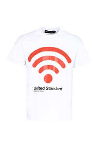 Logo print cotton T-shirt, Short sleeve t-shirts United Standard man