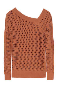 Los Roques openwork-knit pullover, V neck sweaters Pinko woman