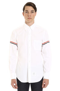 Cotton shirt with button-down collar, Plain Shirts Thom Browne man