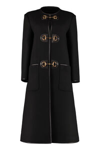 Wool coat with frogs, Knee Lenght Coats Gucci woman