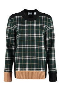 Long sleeve crew-neck sweater, Crew neck sweaters Burberry woman