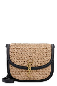 Kaia raffia and leather crossbody bag, Shoulderbag Saint Laurent woman