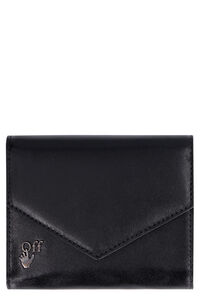 Leather flap-over wallet, Wallets Off-White woman