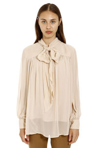 Silk georgette blouse, Blouses Max Mara Studio woman