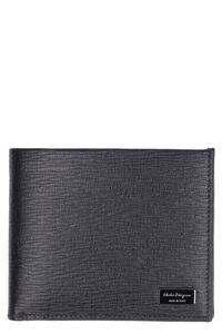 Leather flap-over wallet, Wallets Salvatore Ferragamo man