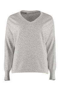 Wool blend sweater, V neck sweaters Fabiana Filippi woman