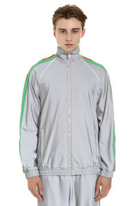 Reflective jersey full-zip sweatshirt, Zip through Gucci man