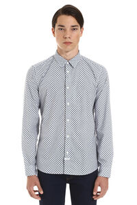 Tiger Monograme long sleeves cotton shirt, Printed Shirts Kenzo man