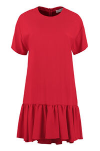 Ruffled crepe mini dress, Mini dresses Red Valentino woman