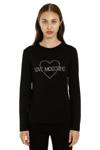 Long sleeve T-shirt, Long sleeved Love Moschino woman