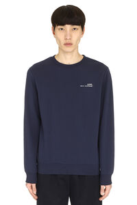 Logo detail cotton sweatshirt, Sweatshirts A.P.C. man