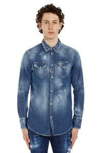 Washed denim shirt, Denim Shirts Dsquared2 man
