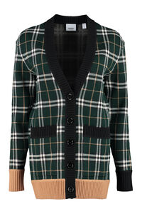 Wool blend cardigan with buttons, Cardigan Burberry woman