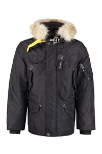 Right Hand fur hood short parka, Parkas Parajumpers man