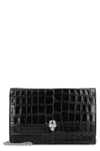 Skull leather mini-bag, Shoulderbag Alexander McQueen woman