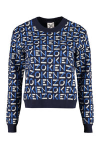 Cotton jacquard sweater, Crew neck sweaters Kenzo woman