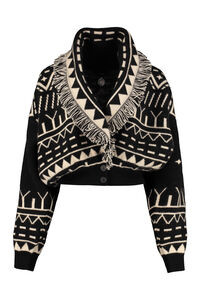 Rainy Mountains cropped-length knitted cardigan, Cardigan Alanui woman