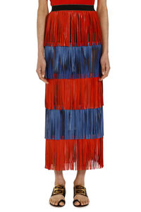 Fringed tiered skirt, Midi skirts Caban Romantic woman