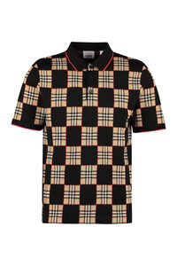 Wool-blend jacquard polo shirt, Short sleeve polo shirts Burberry man