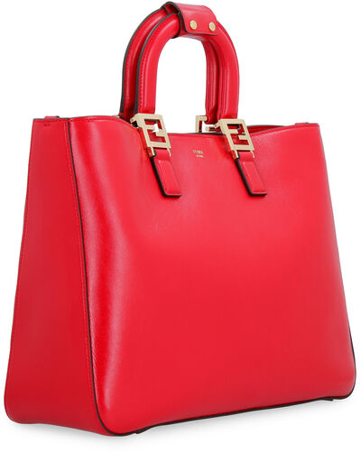 FF leather tote