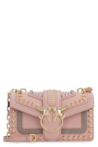 Borsa Mini Love in pelle con borchie, Borsa a tracolla Pinko woman