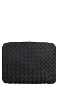 Intrecciato Hydrology document case pouch, Poches Bottega Veneta man