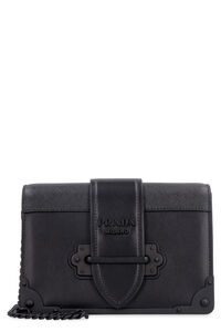 Prada Cahier leather mini-bag, Shoulderbag Prada woman
