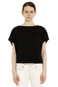 Drawstring detail cotton t-shirt, T-shirts Marni woman