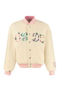 Embroidered wool bomber jacket, Bomber jackets GCDS man