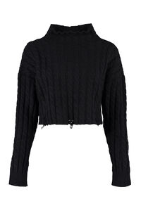Cable knit pullover, Crew neck sweaters Pinko woman