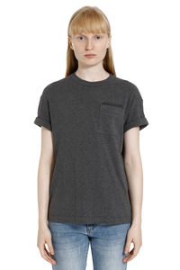 Cotton t-shirt with chest pocket, T-shirts Brunello Cucinelli woman