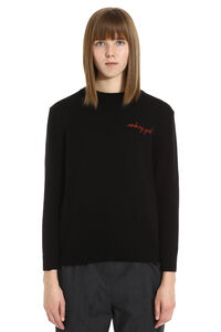 Crew-neck cashmere and wool sweater, Crew neck sweaters Maison Labiche woman