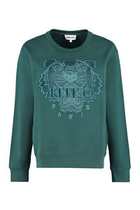 Logo detail cotton sweatshirt, Sweatshirts Kenzo woman