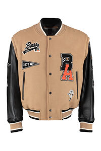 BOSS x Russell Athletic - Wool bomber jacket with patch, Bomber jackets BOSS man