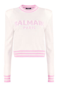 Logo crew-neck sweater, Crew neck sweaters Balmain woman