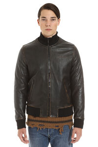 Lambskin bomber jacket, Leather jackets Golden Goose man